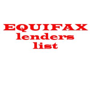 EquifaxCreditProvidersList